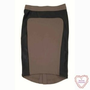 💜 Mossimo Bodycon Pencil Skirt Taupe Faux Leather